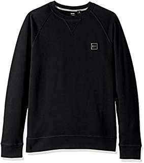 BOSS Orange Men's Wyan Crew Neck Sweatshirt with Woven Logo Patch