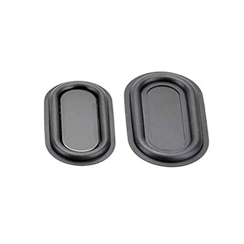 Wnuanjun 2 STÜCKE Bass Kühler Vibrationsplatte Oval Passiv Kühler Weichgummi Hilfsstoffe Niederfrequenzwoofer Bluetooth Lautsprecher DIY (Farbe : 50x90mm)