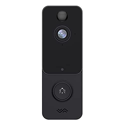 WUMN Cámara de video con timbre inalámbrico WiFi, cámara de timbre WiFi con detector de movimiento, IP67 impermeable HD 1080P sistema de cámara de seguridad en tiempo real para iOS y Android