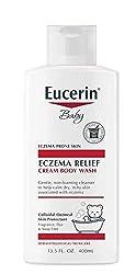 powerful Euselin Baby Eczema Relief Cream Body Wash, a gentle cleanser for eczema-prone skin – 13.5fl. Oz.