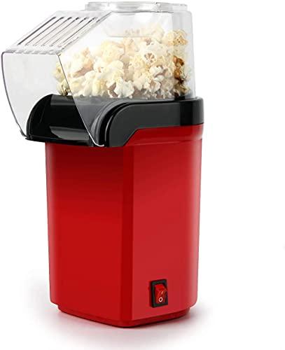 Máquina de maker de palomitas de maíz, popper de palomitas de maíz eléctrica para niños, maquillero de maíz pop de aire caliente, bajo calorías y sin grasa