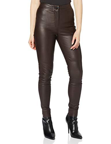 ESPRIT Collection Damen 090EO1B317 Hose, 600/BORDEAUX RED, 36