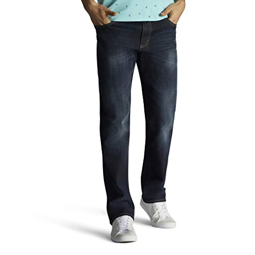 LEE Men's Performance Series Extreme Motion Straight Fit Tapered Leg Jean, Trip, 34W x 30L