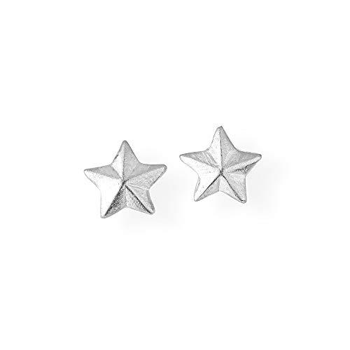 Drachenfels Mini Sternohrstecker aus Echtsilber   Kollektion Sternenglanz und Schattentanz   Edle Ohrstecker für Damen   D STS 20/AG