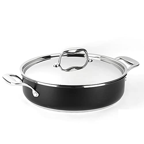 TARTERA MAGEFESA Prisma – TARTERA Fabricada en Acero Inoxidable 18/10, Compatible con Todo Tipo de Cocina, INDUCCIÓN. Fácil Limpieza. Apto para lavavajillas y Horno. (TARTERA, 28_cm)