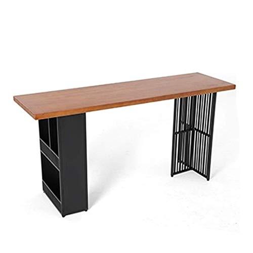 Home Equipment Stehtische Stehtisch Home Cafe Multifunktionaler Stehtisch und Stuhl Kombination Wohnzimmer Einfacher Hochtisch an der Wand und am Fenster Küchen-Stehtisch (Farbe: Braun Größe: 120x5