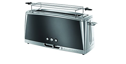 Russell Hobbs Toaster Grille-Pain, Spécial Baguette, Cuisson Rapide, Chauffe Viennoiserie - Gris 23251-56 Luna