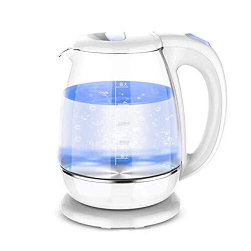 LXDZXY Hervidores de Agua, Hervidor Eléctrico de Vidrio Iluminado, Hervidor de Agua Ecológico de 1,8 L con Apagado Automático, Protección para Hervir Y Secar, Hervidor de Agua Caliente Inalámbrico si