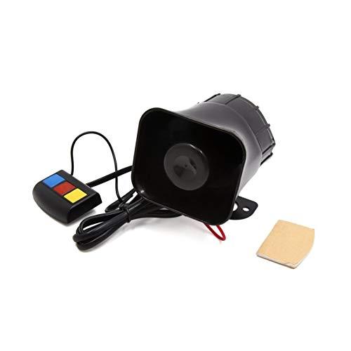 XUNLAN Durable Ajuste para 12V 30W 110dB 3 Sonidos de Tonos Motocicleta eléctrica eléctrico Cuerno Altavoz Trompeta Negro Wearable