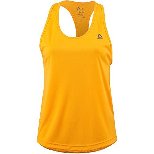 Reebok Damen US Performance Mesh Tank-Top Orange, Silber Shirts, L