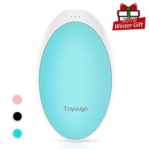 toyuugo Handwärmer Wiederverwendbar USB 5200mAh Handwärmer Elektrisch Akku tragbare Power Bank Kompatibel mit Handys und Tablets-Blau