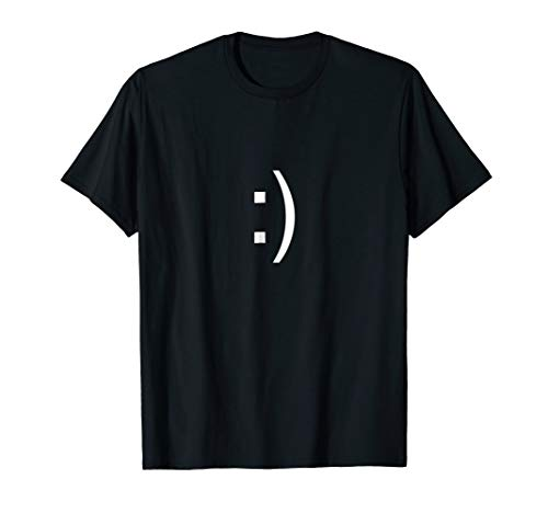 Smiley Face Text T Shirt