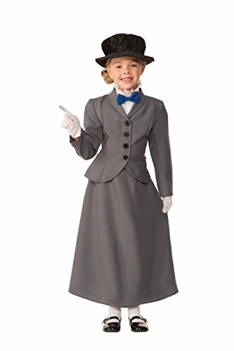 Forum Novelties Kids English Nanny Costume, Gray, Medium