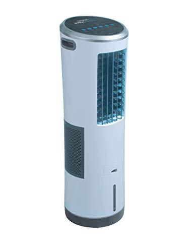Mediashop Livington InstaChill – Kühler mit Wasserkühlung – mobiler Luftkühler mit 3 Kühlstufen – Klimagerät ohne Abluftschlauch für 12h Kühlung Dank 8,5 L Tank, mit Fernbedienung, Luftbefeuchter