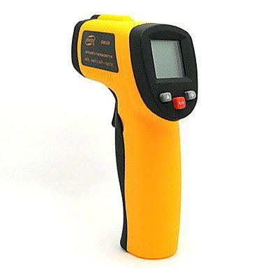 "BENETECH GM320 1.2"" LCD Infrared Temperature Tester Thermometer - Orange + Black (2 x AAA) by Thermometer-HI"