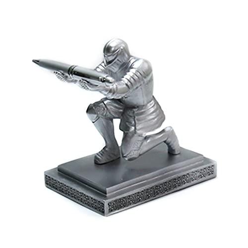 mygzq Titular de lápices Maquillaje Pincel de Pincel Ejecutivo Knight Pen Titular Armor héroe Pluma papelería Resina Mostrar Suministros (Color : SR)