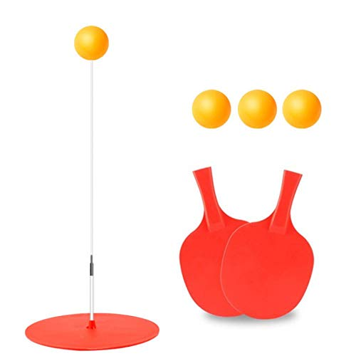Best Deals! Table Tennis Training Device Elastic Flexible Shaft Home Plastic Base Table Tennis Pract...