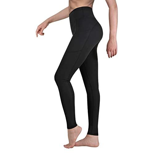 Vimbloom Pantalón Deportivo de Mujer Cintura Alta Leggings para Running Fitness Yoga Leggings VI263( Negroa,M