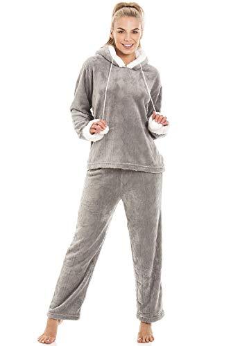 Pyjama à Capuche en Polaire Ultra Douce - Femme 46/48 Grey