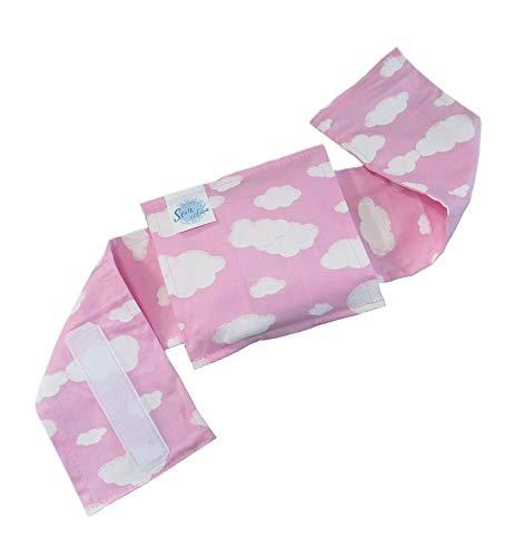 Bolsa Térmica Bebê Sem Cólica Com Cinta Céu Rosa