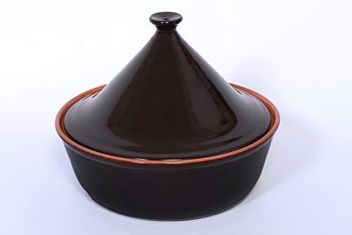 Benegiamo Arte y Terracota SRL tajine Ø24 cm con Tapa 1240, Terracota, marrón, 24 cm