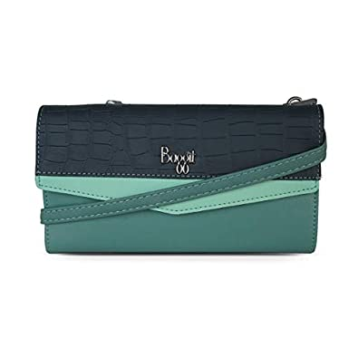 Baggit Autumn-Winter 2020 Faux Leather Women's Harmonium Wallet (Green) (Gamine)