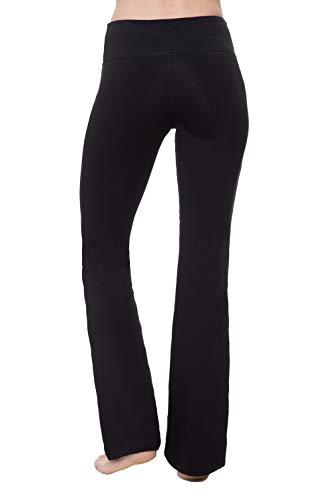 "NIRLON Women's Bootcut Yoga Pants High Waist Workout Leggings (Large 30"" Inseam, Black)"