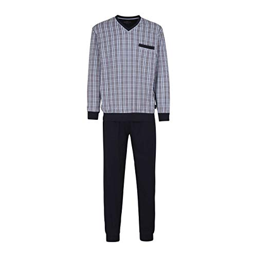 Götzburg Herren Nachtwäsche Zweiteiliger Schlafanzug Pyjama lang aus Baumwolle 52