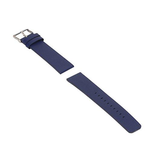 F Fityle in Pelle Regolabile per Orologio da Polso, Bracciale, Fibbia, per Orologio Blaze - Profondo Blu