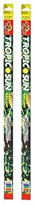 (2 Pack) Zoo Med Tropic Sun 5500K Daylight Fluorescent Bulb T8 32 Watt, 48-Inch