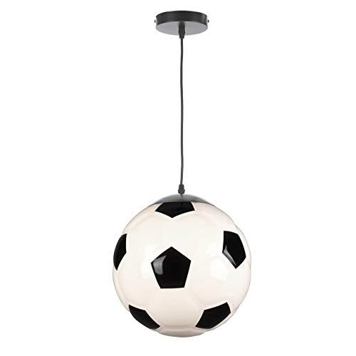 ONLI - Lámpara colgante de balón de fútbol de acrílico, color blanco y negro