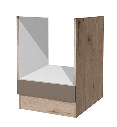 Smart Möbel Herd-Umbauschrank 60 cm Quarz-Cubanit ohne APL - Rodello