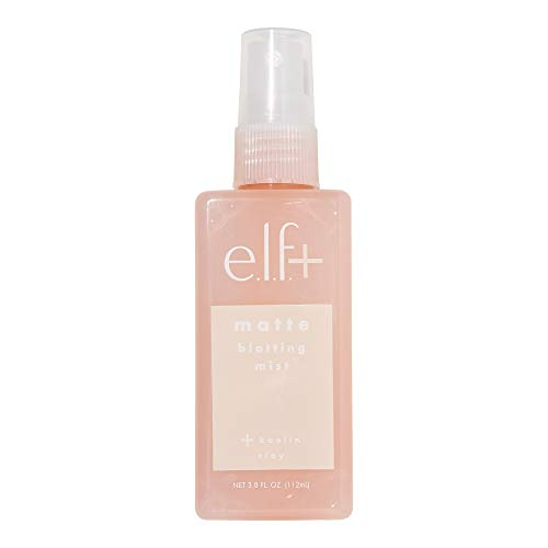 e.l.f. Elf+ Matte Blotting Mist Mattifying, Lightweight, Long Lasting Controls Shine, Absorbs Excess Oil Infused with Kaolin Clay 3.8 Fl Oz