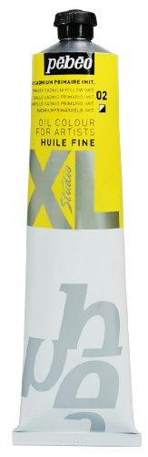 Pébéo - Olio fine XL 200 ML - Pittura ad Olio Giallo cadmio - Pittura ad Olio Pébéo - Giallo cadmio Imitazione primaria 200 ml