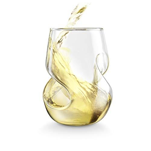 Final Touch Conundrum verres à vin blanc en verre soufflé à la main 266 ml-Lot de 4