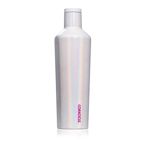 Corkcicle Canteen - Water Bottle & Thermos - Triple Insulated Stainless Steel, 25 oz, Sparkle Unicorn Magic