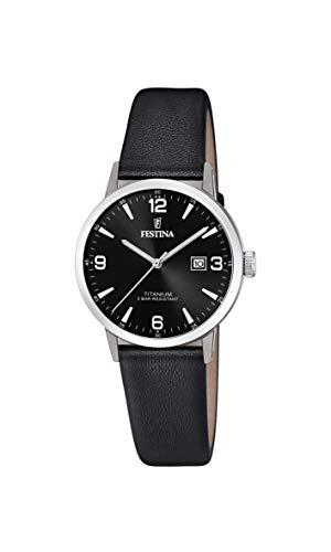 Festina Damen Analog Quarz Uhr mit Leder Armband F20472/3