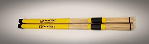 Red Roddy Bamboo Rod Hot Rods - Caña de pescar (bambú), color amarillo