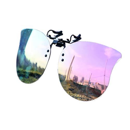 Polarisierte Unisex-Clip auf Sonnenbrille Clip-Stil Sonnenbrille Aufsatz Brille Sonne Flip up Sonnenbrille für Myopie Brille im Freien/Fahren/Angeln