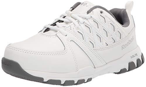 Reebok Work Women's Sublite Work RB434 Industrial and Construction Shoe, White, 8.5 W US