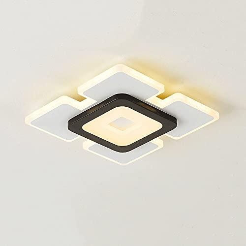 Luces Modernas del Corredor Minimalista Luces de techo Luz Tricromática, Lámpara de techo de diseño cuadrado, Lámpara de techo de descarga para el pasillo de entrada para el pasillo del pasaje del pas