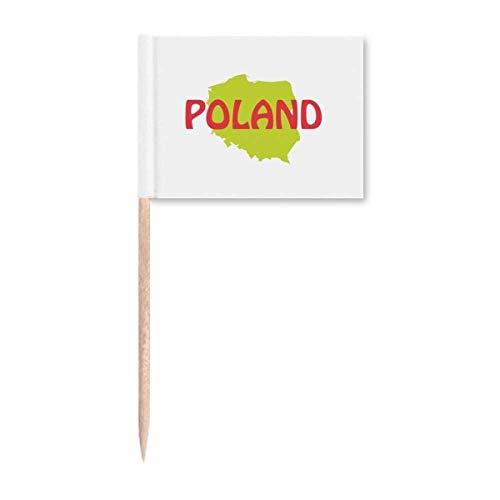 Europa Karte Warschau Polen Zahnstocher Flaggen Marker Topper Party Dekoration