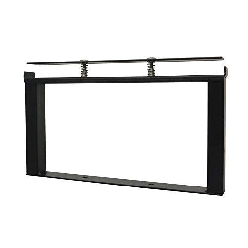 DIY-ID ブラック クランプスシェルフ 150基本セット ID-060 ビス打ちなし5分で棚が作れる。1x4材をはさみ込むだけの簡単DIYシェルフ。