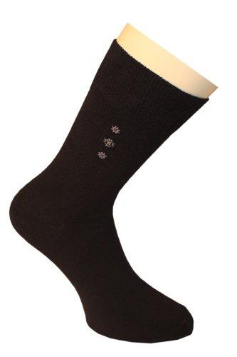 Weri Spezials Chaussettes pour Hommes. Couleur: Noir, Dessin: par ordinateur nr.5, Taille: 43-46