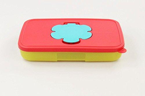 TUPPERWARE Kinder Feuchttücherbox 650 ml flach limette erdbeerrot Baby Box