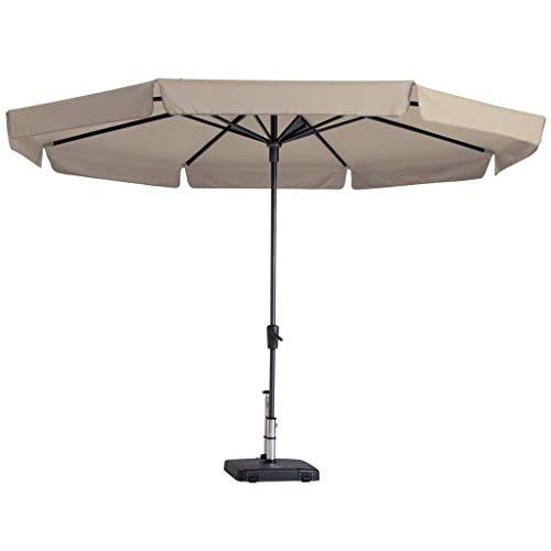 Madison Sonnenschirm 350cm Rund Ecru Ampelschirm Gartenschirm Marktschirm