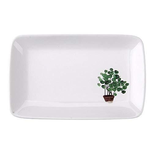 Teller Essteller Teller Keramik Obstteller Sushi Teller Kreatives Geschirr Salat Teller Dessert Kuchen Teller Rechteckiges Geschirr A.