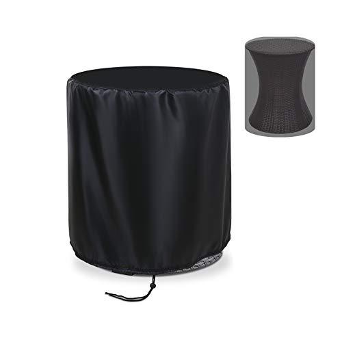 Flymer Housse de protection pour table ronde Keter 20 l - Imperméable et résistante au soleil - Noir (Φ50 x 57)