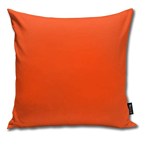 BwwoBing Throw Pillow Cover Case voor slaapbank bank Home Decor Vintage Bright fluorescent Attack Oranje Neon Pattern vierkant 18x18 inch 45x45 cm