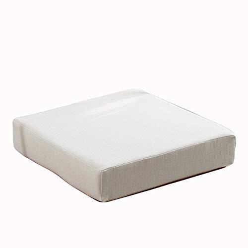 Cojines de jardín cuadrados gruesos cojines de asiento para silla de comedor, cojines de piso para interiores y exteriores, para oficina, antideslizante, 50 x 50 x 8 cm